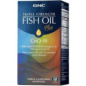 Triple Strength Fish Oil Plus CoQ-10 新配方三倍效力魚油輔酶Q10 60粒 (美國本地版)