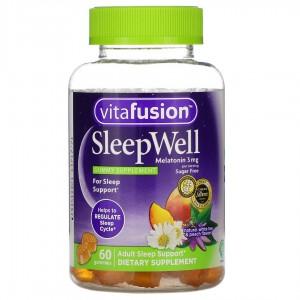 Sleep Well褪黑素改善失眠睡眠軟糖 3mg 60粒