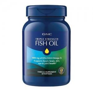GNC 三倍強效深海魚油1000mg [60粒]
