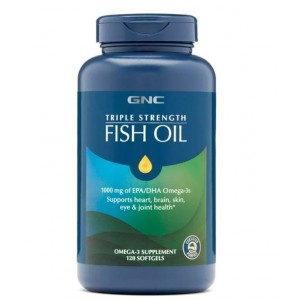 GNC 三倍強效深海魚油 DHA Fish oil 1000mg 120粒