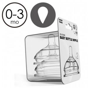 矽膠奶咀單孔0-3個月 -2入裝